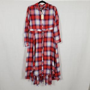Jodifl Plaid Maxi Dress•Size M•NWT